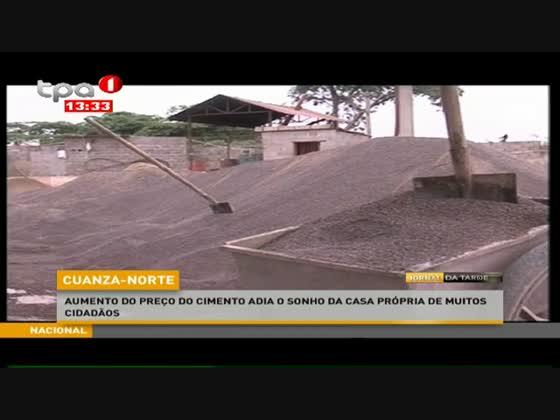 Aumento do preço do cimento adia o sonho da casa própria de muitos cidadãos