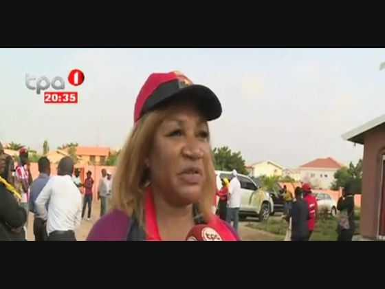 """Mobilização Total"" Margarida da Costa - 2ª Secr. do MPLA no Kilamba Kiaxi"