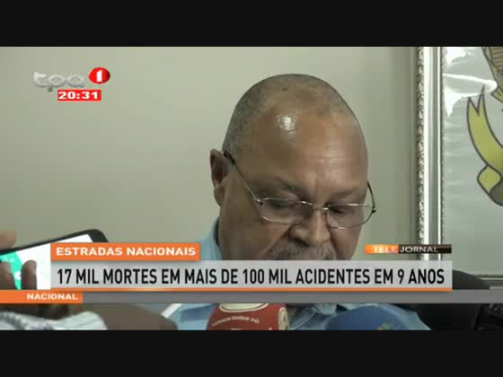Estradas nacionais - 17 mil mortes em mais de 100 mil acidentes em 9 anos