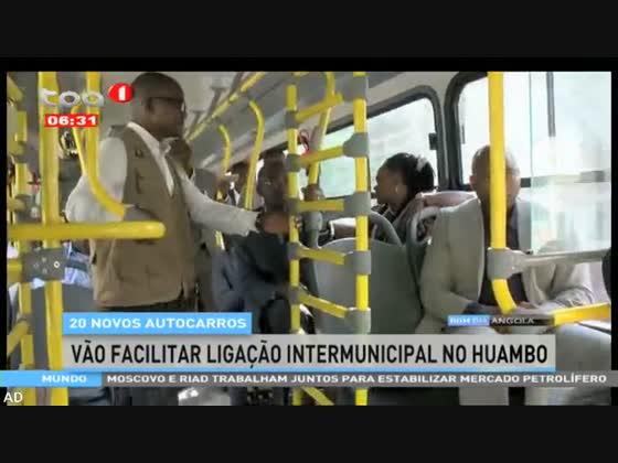 20 novos autocarros vão facilitar ligação intermunicipal no Huambo