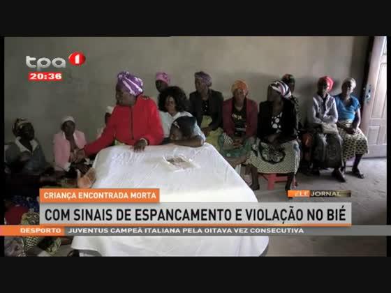Criança encontrada morta com sinais de espancamento e violação no Bié